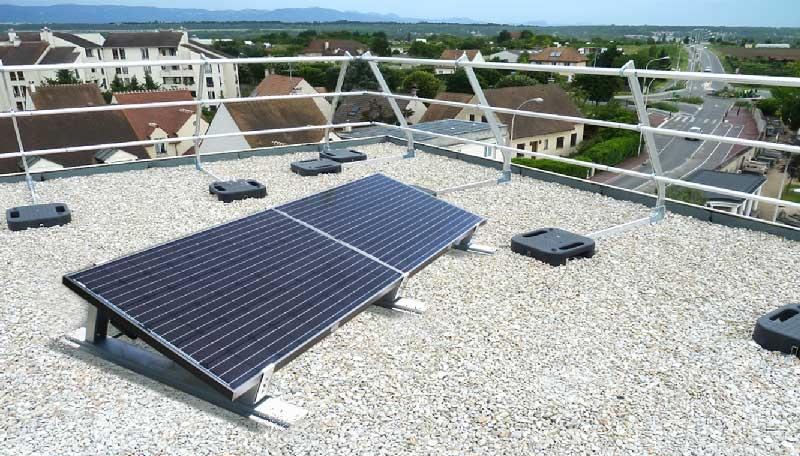 pose sur ch ssis kit photovolta que avec cliposol panneaux solaires photovoltaiques pour. Black Bedroom Furniture Sets. Home Design Ideas